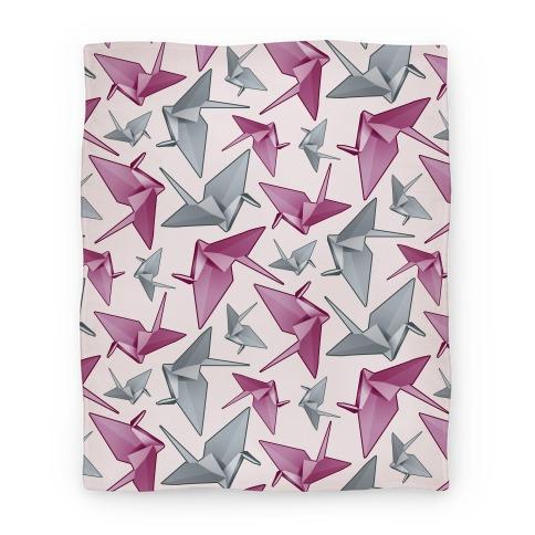 Origami Paper Crane Blanket