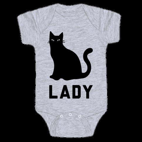Cat Lady Baby Onesy