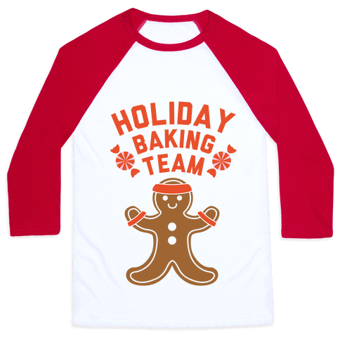Holiday Baking Team Baseball Tee