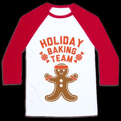 Holiday Baking Team Baseball Tee