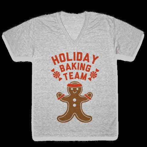 Holiday Baking Team V-Neck Tee Shirt