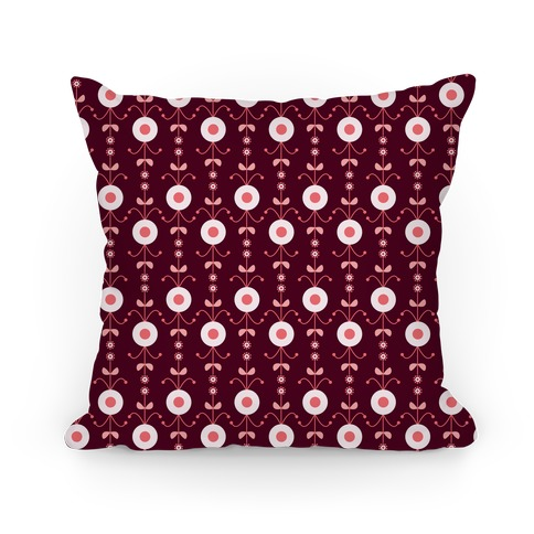 Retro Flower Pattern Pillow Pillow