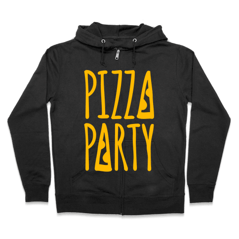 Pizza Party Zip Hoodie
