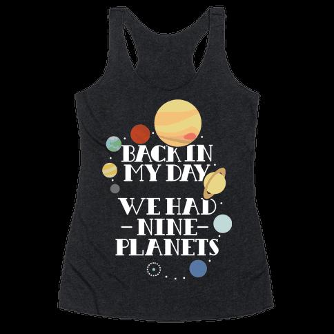 Nine Planets Racerback Tank Top