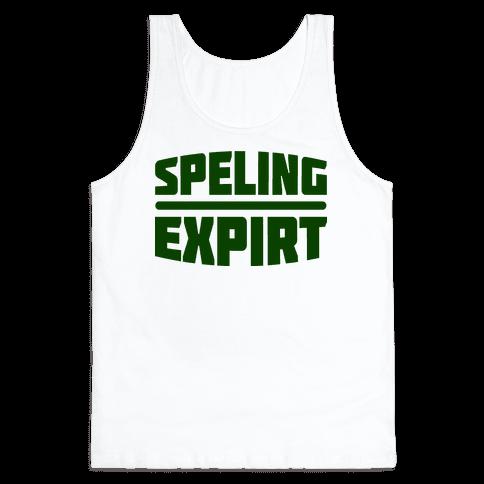 Spelling Expert  Tank Top