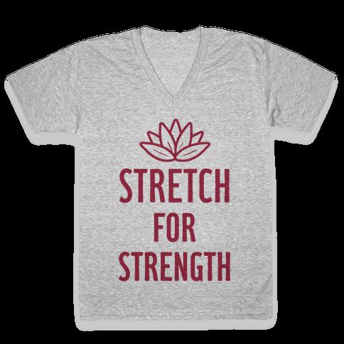 Stretch For Strength V-Neck Tee Shirt