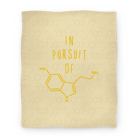 In Pursuit of Happiness (Serotonin Molecule) Blanket