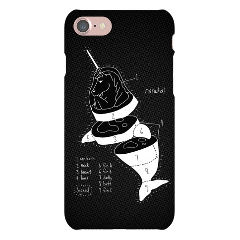 Narwhal Diagram Phone Case