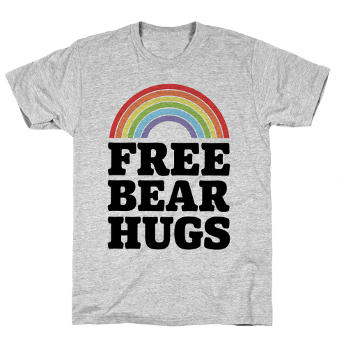 Free Bear Hugs Mens T-Shirt