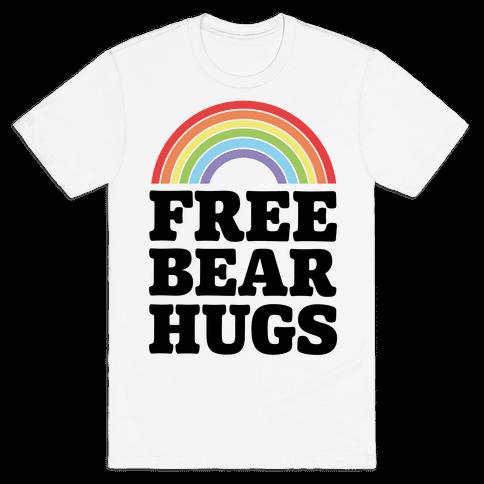 Free Bear Hugs Mens T-Shirt