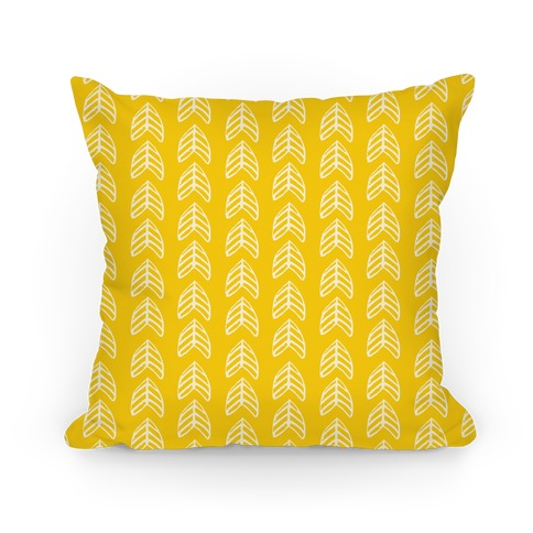 Yellow Trendy Chevron Pattern Pillow