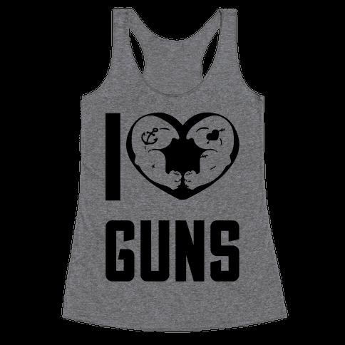 I Heart Guns Racerback Tank Top