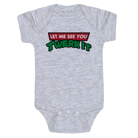 Turtle Twerk Baby Onesy