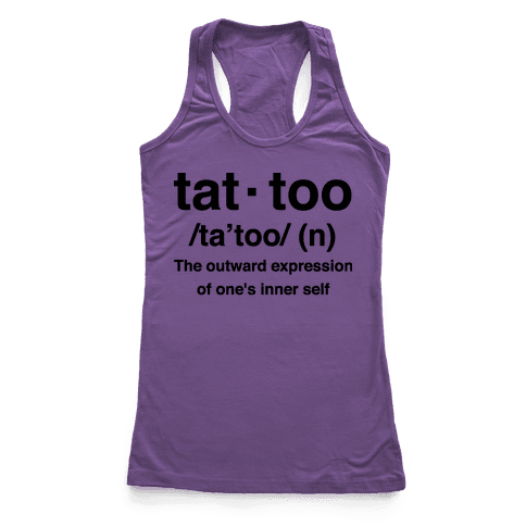Tattoo Definition  Racerback Tank Top