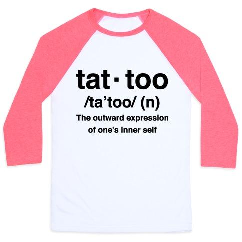 Tattoo Definition Baseball Tee