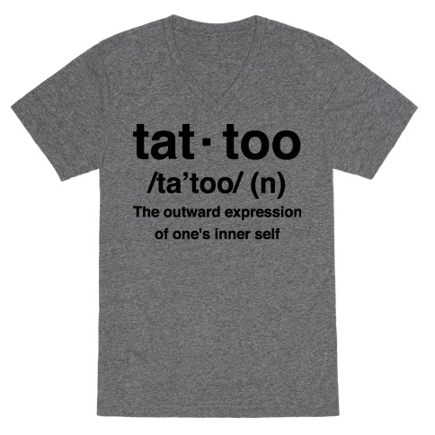 Tattoo Definition V-Neck Tee Shirt
