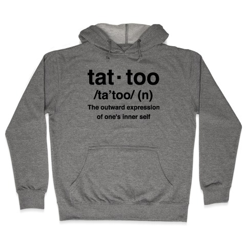 Tattoo Definition Hooded Sweatshirt