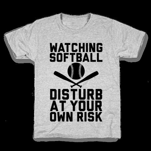 Watching Softball Kids T-Shirt