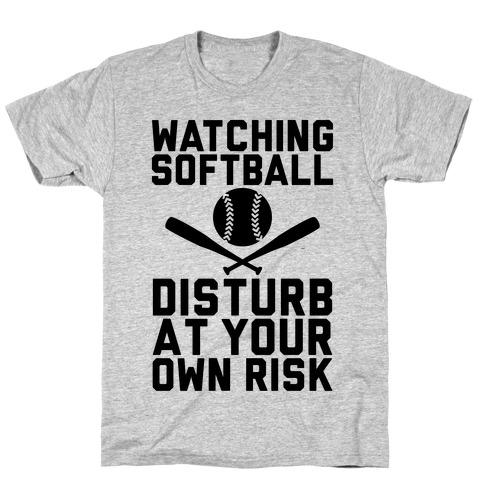 Watching Softball Mens/Unisex T-Shirt