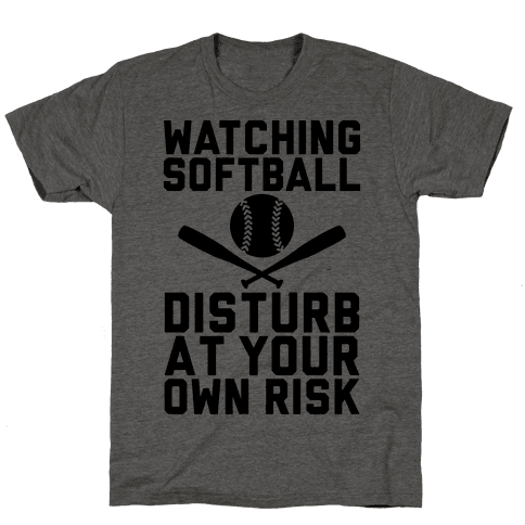 Watching Softball Mens T-Shirt