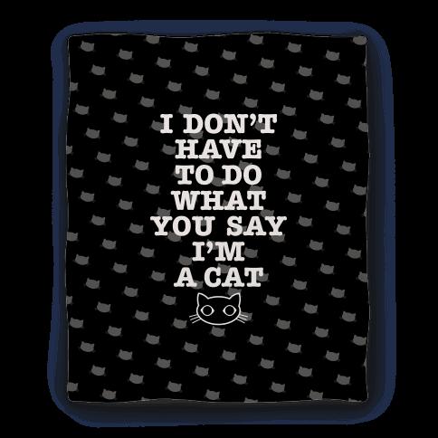 I'm A Cat Blanket