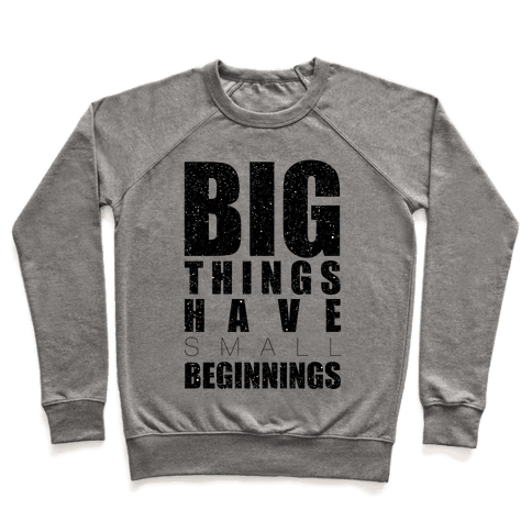 Big Things Have Small Beginnings Pullover