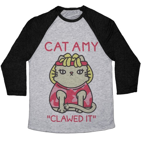 Cat Amy Baseball Tee
