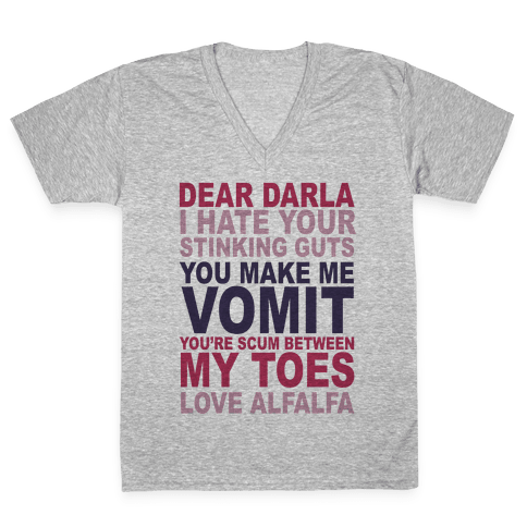 Dear Darla V-Neck Tee Shirt