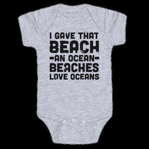 Beaches Love Oceans Baby Onesy