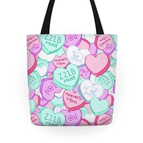 Sherlock Valentines Hearts Tote