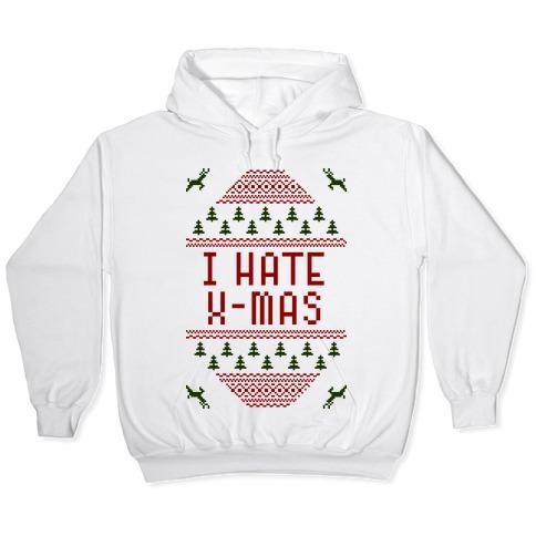 8 Colours I Hate Christmas Unisex Hoodie