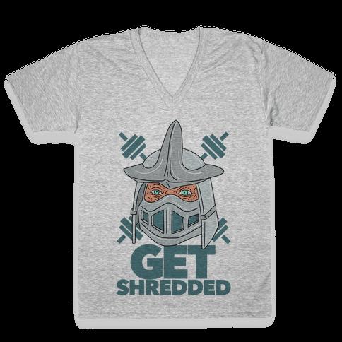 Get Shredded V-Neck Tee Shirt