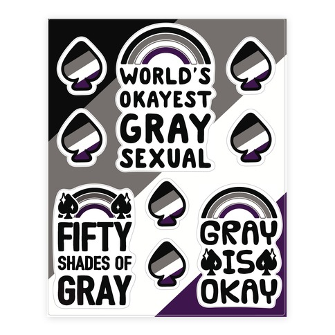 Graysexual  Sticker/Decal Sheet