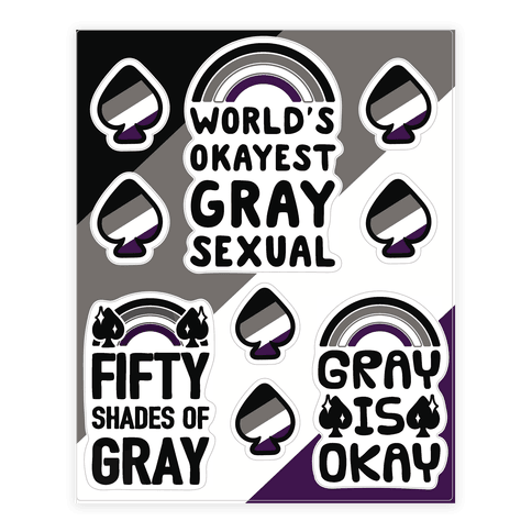 Graysexual Sticker and Decal Sheet