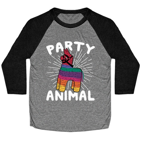 Party Animal Baseball Tee