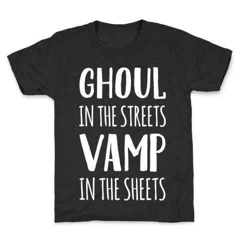 Ghoul In The Sheets Vamp In The Sheets Kids T-Shirt