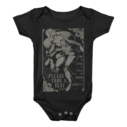 Death Parade Doll Baby Onesy