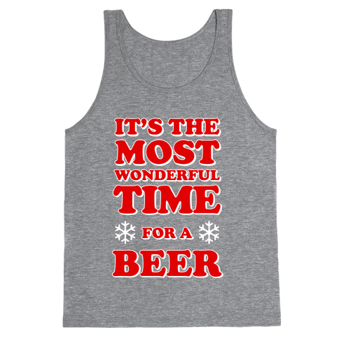 It's the Most Wonderful Time For a Beer Tank Top