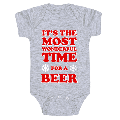 It's the Most Wonderful Time For a Beer Baby Onesy