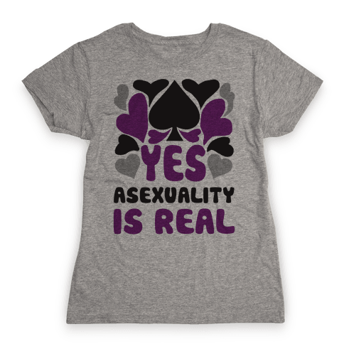 Yes Asexuality Is Real Womens T-Shirt