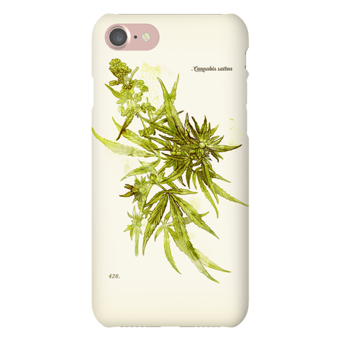 Cannabis Botanical Illustration Phone Case