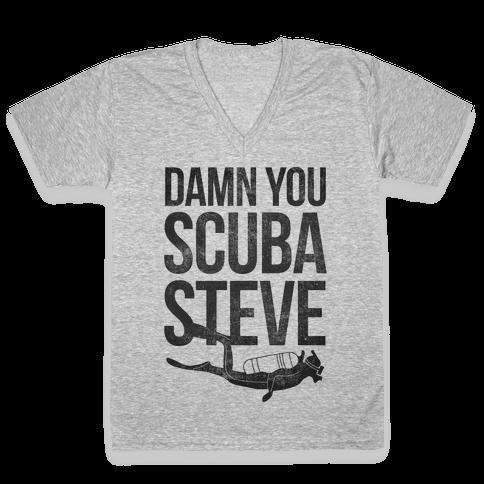 Damn You Scuba Steve V-Neck Tee Shirt