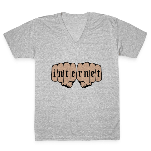 Internet Knuckles V-Neck Tee Shirt