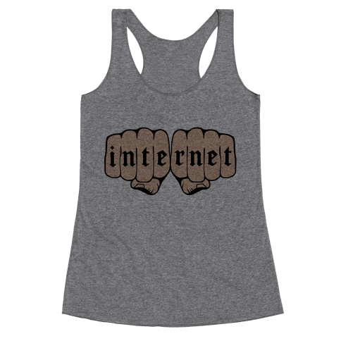 Internet Knuckles Racerback Tank Top