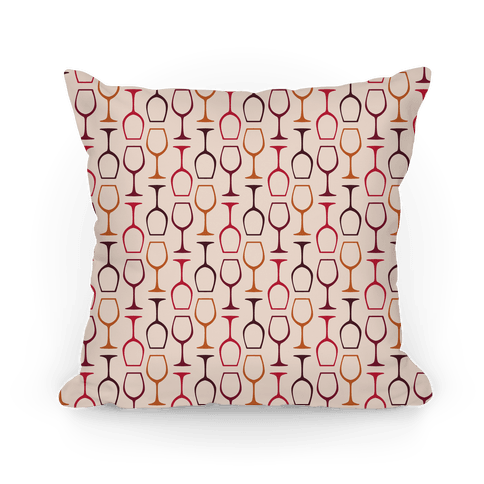 Wine Glasses Pattern Pillow