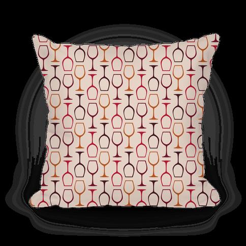 Wine Glasses Pattern Pillow