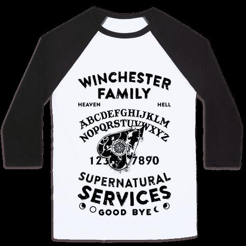Winchester Family Ouija Board Baseball Tee