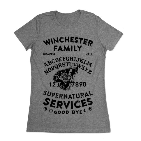Winchester Family Ouija Board Womens T-Shirt