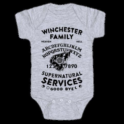 Winchester Family Ouija Board Baby Onesy