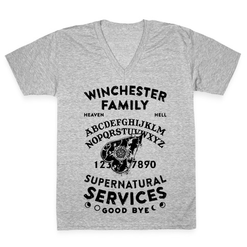 Winchester Family Ouija Board V-Neck Tee Shirt